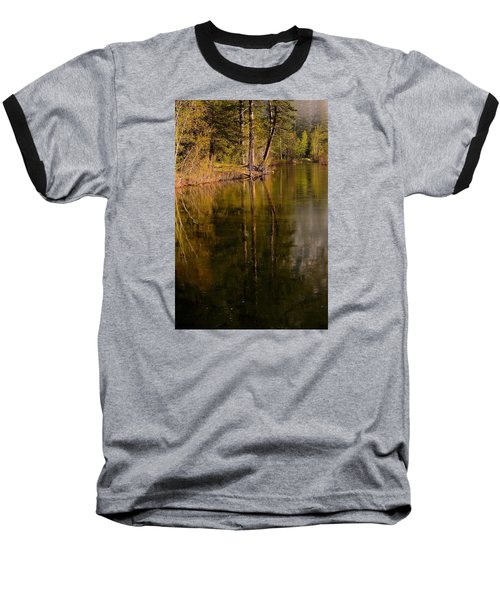 Tranquil Merced River Baseball T-Shirt