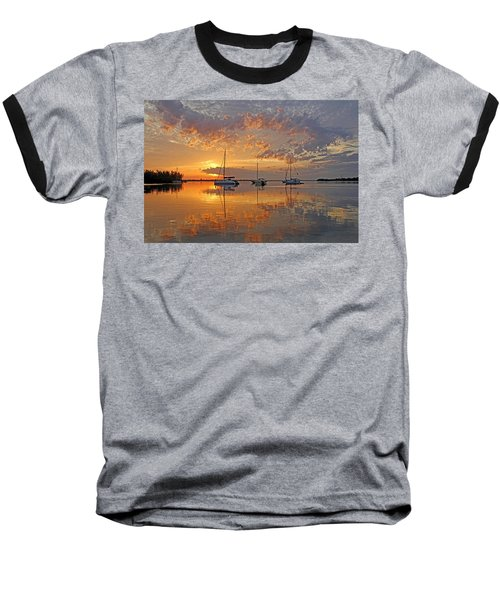 Tranquility Bay - Florida Sunrise Baseball T-Shirt
