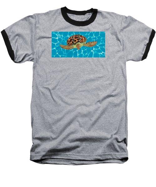 Caribbean Sea Turtle Baseball T-Shirt