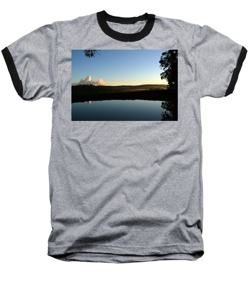 Tranquility Baseball T-Shirt by Evelyn Tambour