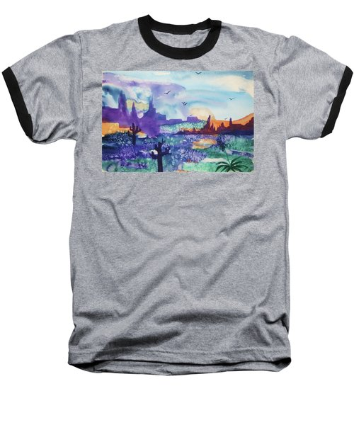 Baseball T-Shirt featuring the painting Tranquility II by Ellen Levinson
