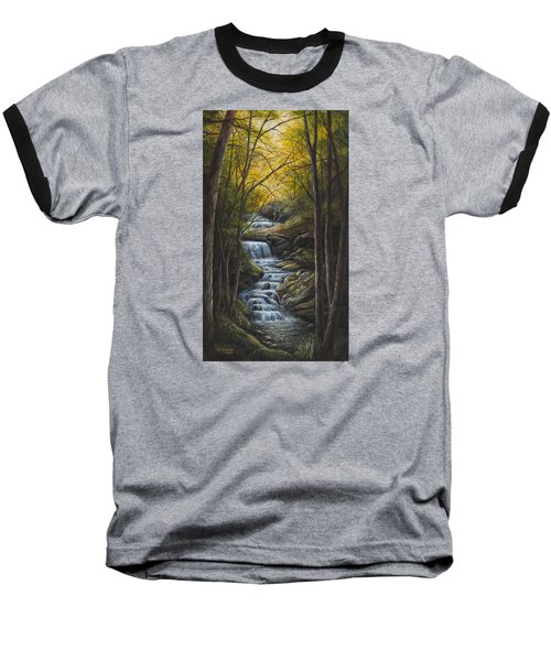 Tranquility Baseball T-Shirt by Kim Lockman