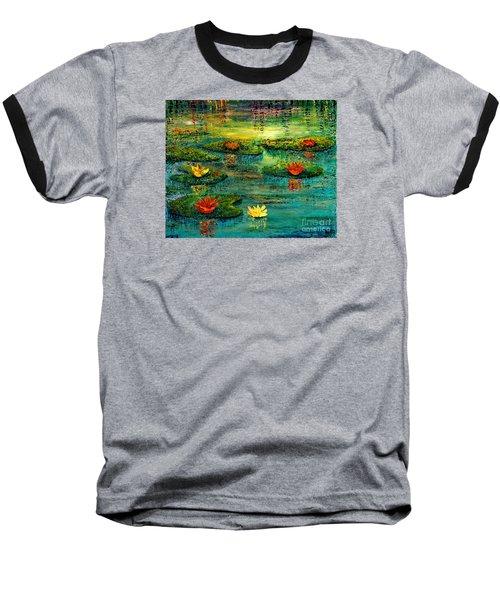 Tranquility Baseball T-Shirt by Teresa Wegrzyn