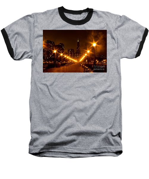 Transamerica Pyramid From Pier Baseball T-Shirt