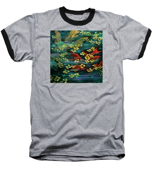 Baseball T-Shirt featuring the painting Transforming... by Xueling Zou