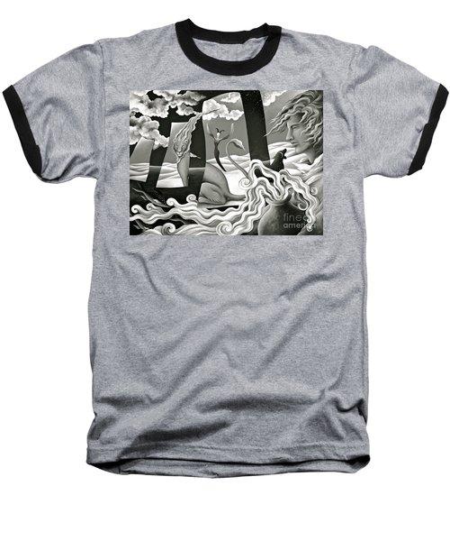 Traveler's Fortune Baseball T-Shirt by Gem S Visionary