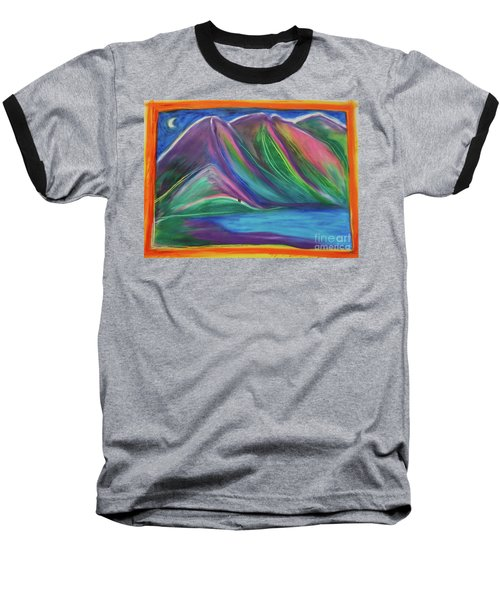 Baseball T-Shirt featuring the painting Travelers Mountains By Jrr by First Star Art