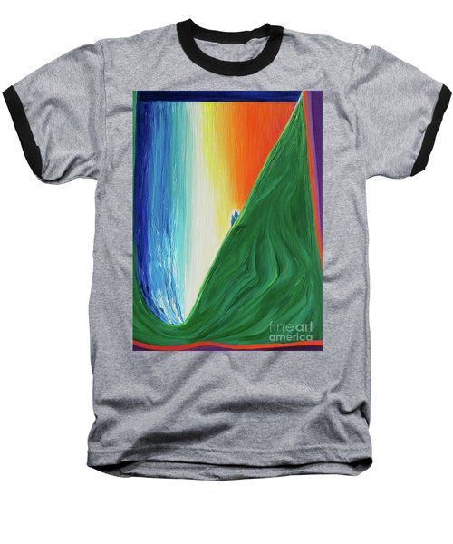 Baseball T-Shirt featuring the painting Travelers Rainbow Waterfall By Jrr by First Star Art