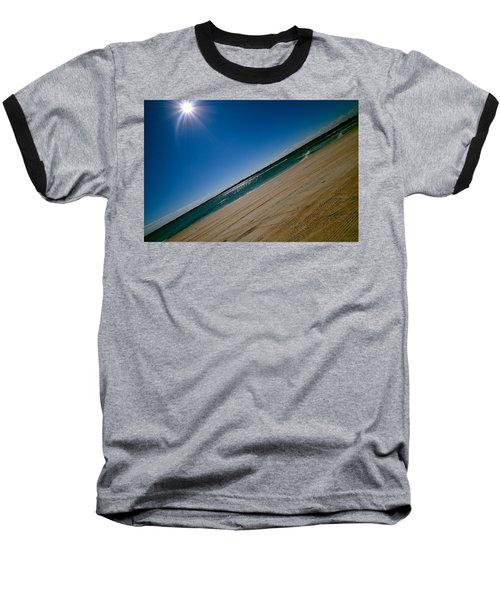 Baseball T-Shirt featuring the photograph Treads In The Sand by DigiArt Diaries by Vicky B Fuller