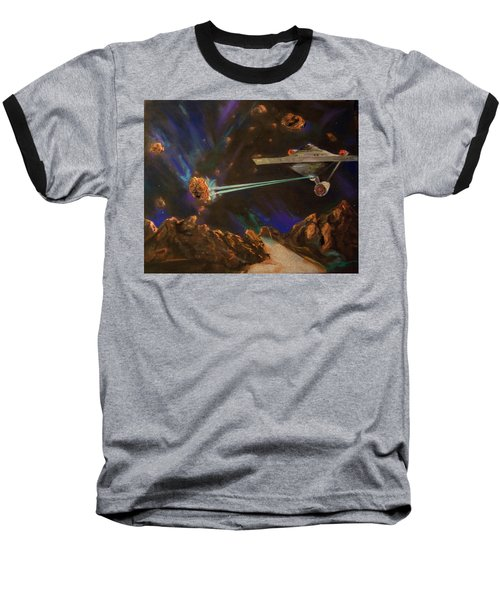 Baseball T-Shirt featuring the mixed media Trek Adventure by Peter Suhocke