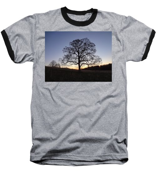 Baseball T-Shirt featuring the photograph Tree At Dawn by Michael Porchik
