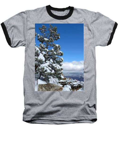 Baseball T-Shirt featuring the photograph Tree At The Grand Canyon by Laurel Powell