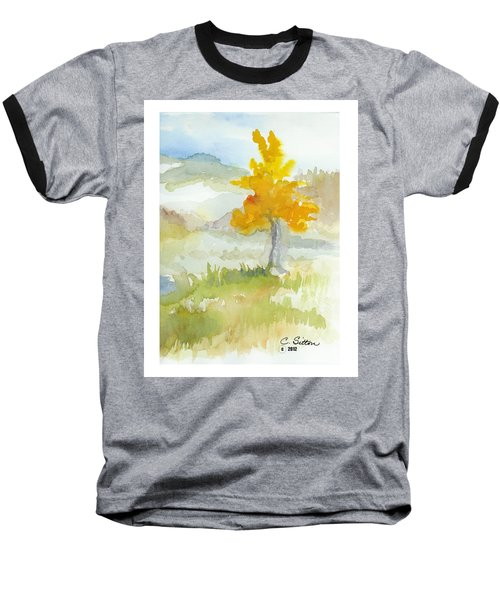 Baseball T-Shirt featuring the painting Tree by C Sitton
