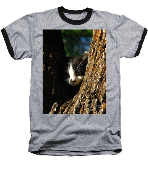 Tree Cat Baseball T-Shirt