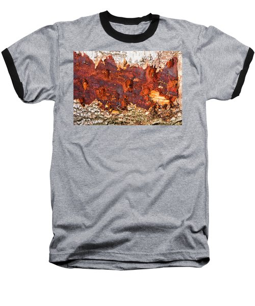 Tree Closeup - Wood Texture Baseball T-Shirt