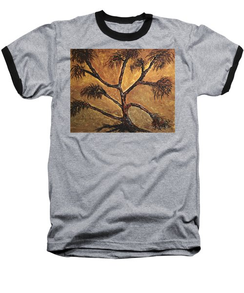 Tree Baseball T-Shirt by Dick Bourgault