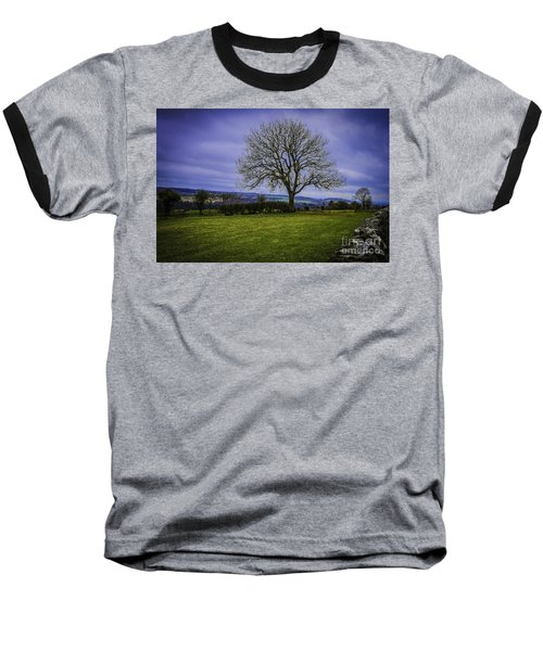 Tree - Hadrian's Wall Baseball T-Shirt by Mary Carol Story