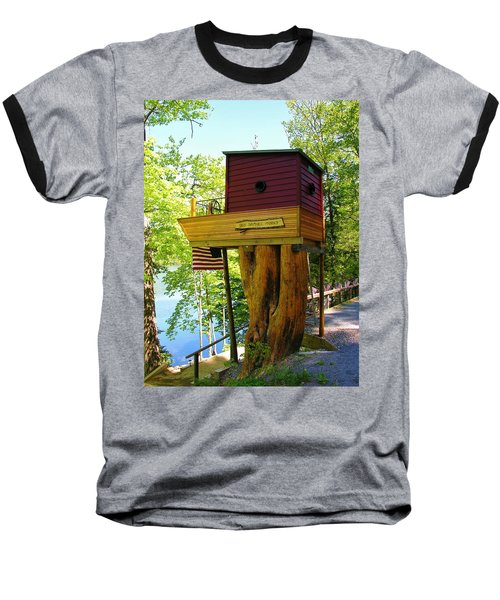 Tree House Boat Baseball T-Shirt by Sherman Perry
