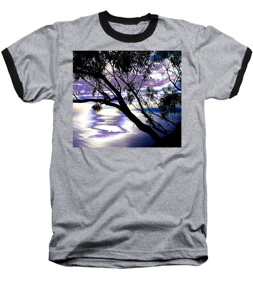 Tree In Silhouette Baseball T-Shirt