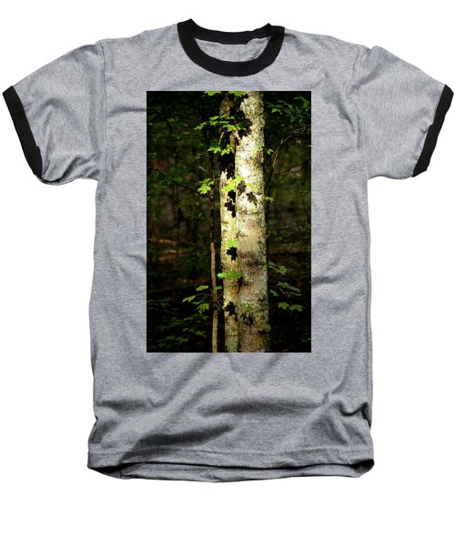 Tree In The Woods Baseball T-Shirt