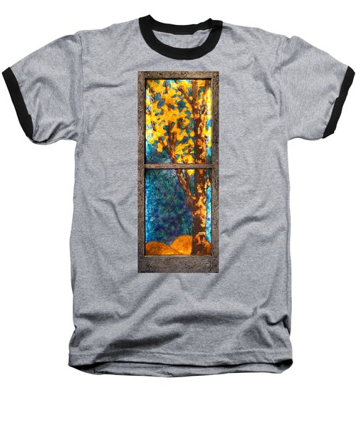 Tree Inside A Window Baseball T-Shirt