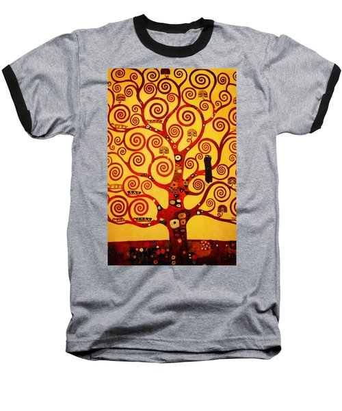 Tree Life Baseball T-Shirt by Celestial Images