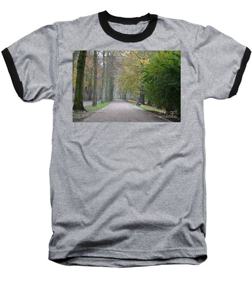 Baseball T-Shirt featuring the photograph Tree Lined Path In Fall Season Bruges Belgium by Imran Ahmed