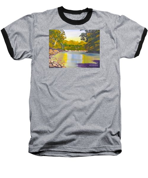 Tree Lined River Baseball T-Shirt