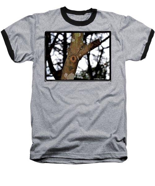 Baseball T-Shirt featuring the photograph Tree Observation by Tara Potts