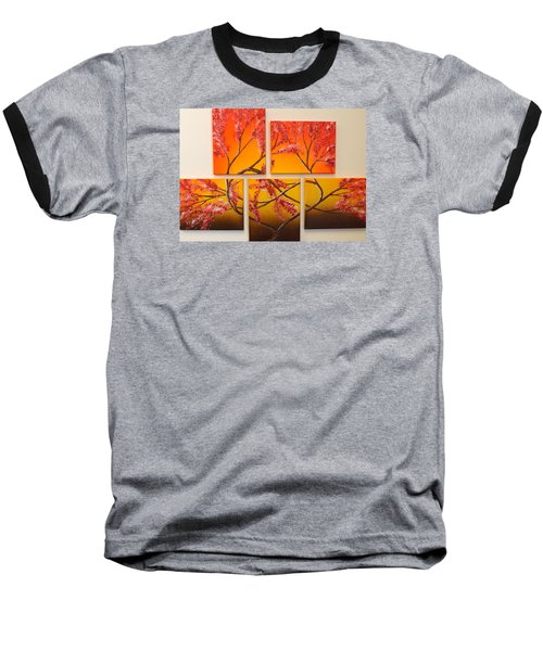 Baseball T-Shirt featuring the painting Tree Of Infinite Love by Darren Robinson