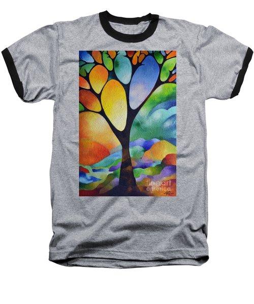 Tree Of Joy Baseball T-Shirt by Sally Trace
