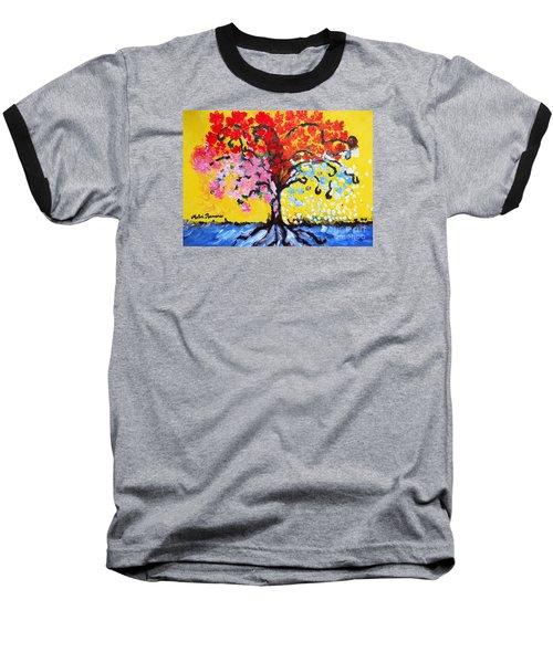Tree Of Life Baseball T-Shirt by Ramona Matei