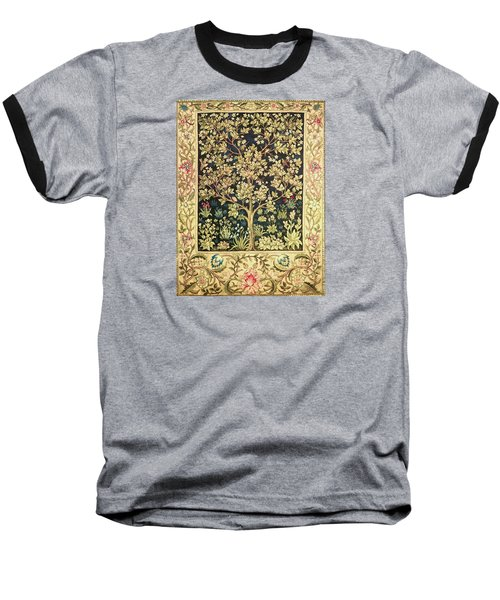 Tree Of Life Baseball T-Shirt by William Morris