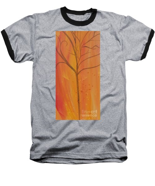 Baseball T-Shirt featuring the painting Tree Of Three Coral by Robin Maria Pedrero
