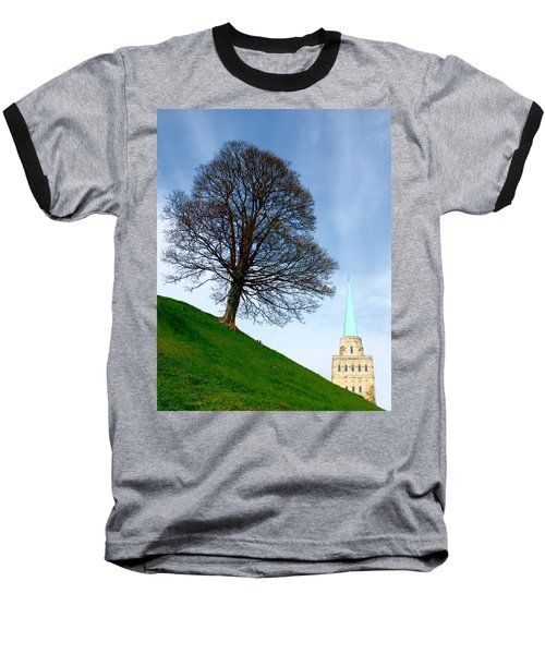 Tree On A Hill Baseball T-Shirt