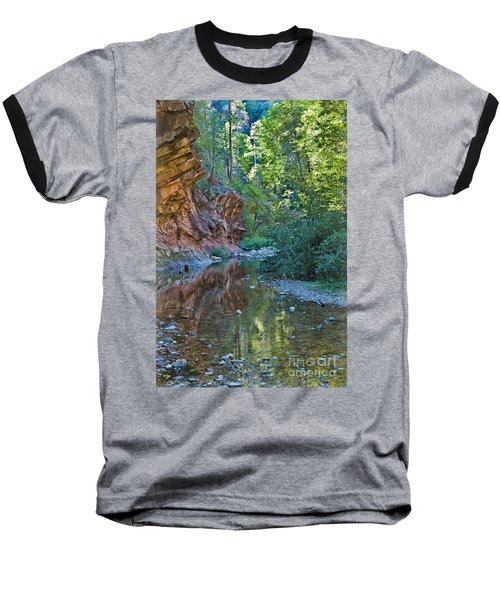 Baseball T-Shirt featuring the photograph Tree Reflection by Mae Wertz