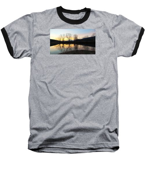 Tree Reflections Landscape Baseball T-Shirt