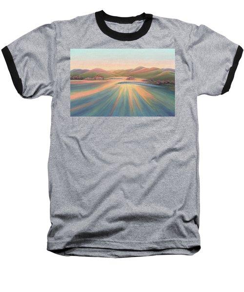 Tree Shadows Sunset Tasmania Baseball T-Shirt