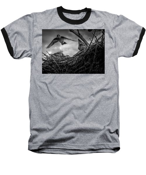 Tree Swallows In Nest Baseball T-Shirt