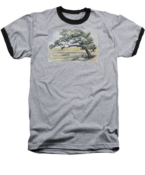 Da187 Tree Swing Painting By Daniel Adams Baseball T-Shirt