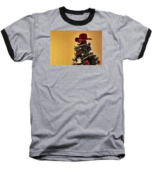 Baseball T-Shirt featuring the photograph Tree Topper Texas Style by Nadalyn Larsen