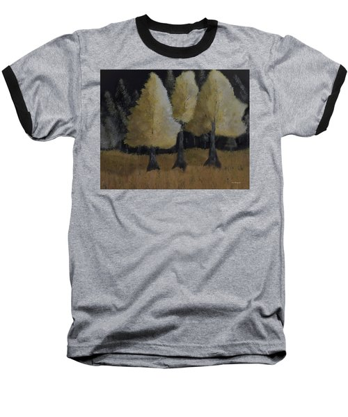 Tree Trio Baseball T-Shirt by Dick Bourgault