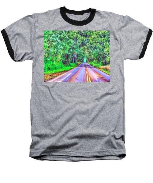 Tree Tunnel Kauai Baseball T-Shirt by Dominic Piperata