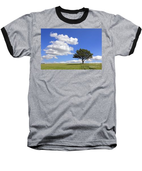 Tree With Clouds Baseball T-Shirt