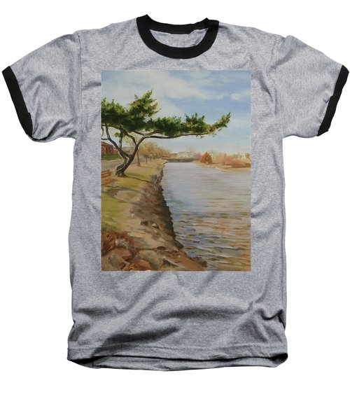 Tree With Lake Baseball T-Shirt