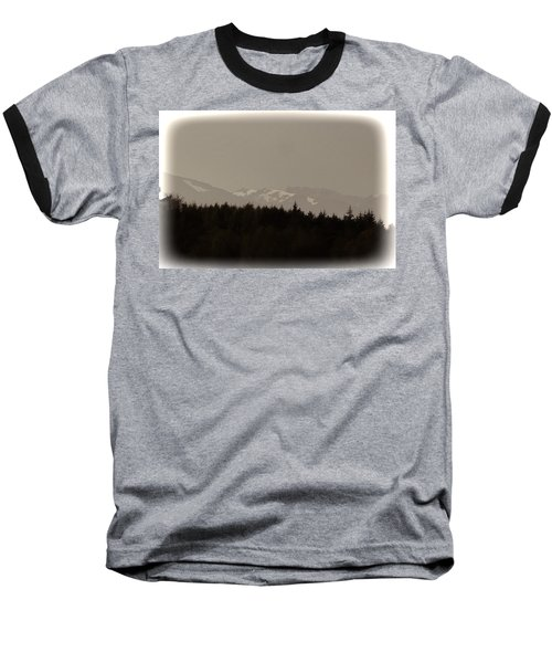 Treeline With Ice Capped Mountains In The Scottish Highlands Baseball T-Shirt