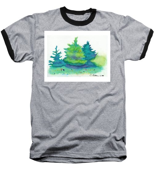 Baseball T-Shirt featuring the painting Trees 2 by C Sitton