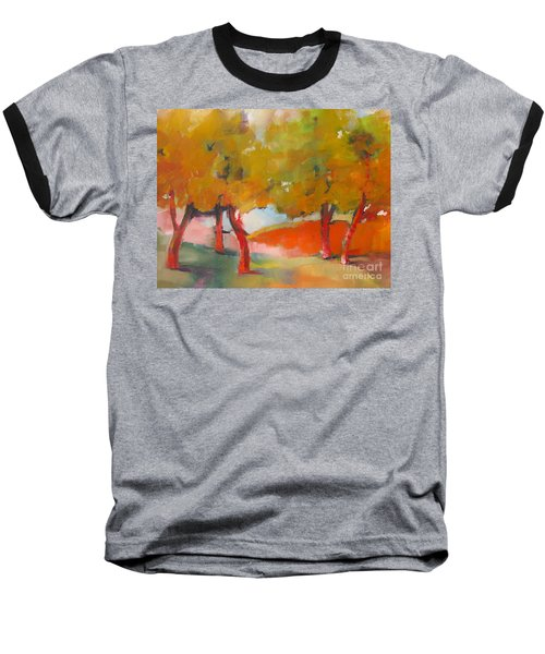 Baseball T-Shirt featuring the painting Trees #5 by Michelle Abrams
