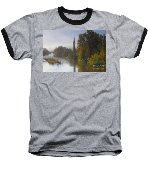 Trees A View From Usk Bridge Baseball T-Shirt