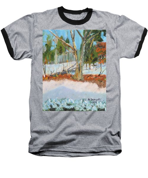 Trees And Snow Plein Air Baseball T-Shirt